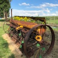 waggon wheel flower bed