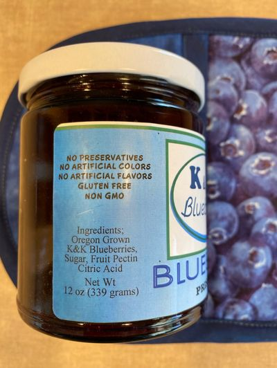 Blueberry Preserves ingredients